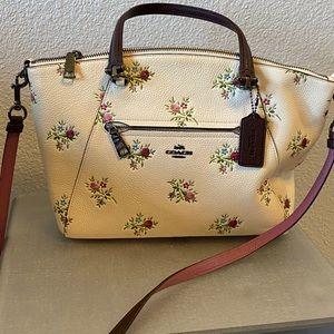 Coach floral purse.